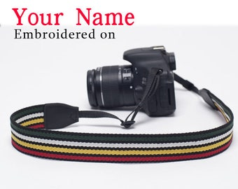 DSLR camera strap Christmas Gift Custom  Camera Strap  Personalized  Embroidered DSLR Sony, Nikon, Canon Photography Gift Birthday Gift Cf11