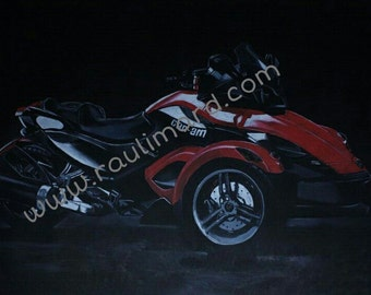 Can-Am Spyder 2011 Motorcycle Poster