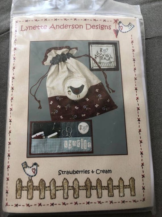 Lynette Anderson Pattern and Kit for Strawberries and Cream