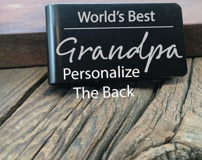 World's Best Grandpa Money Clip Gift For The Greatest Grandpa Fathers Day Gift Custom Wallet For The Best Grandpa Ever Engraved Money Clip