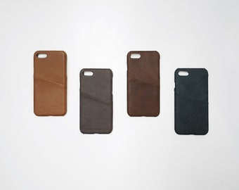 iPhone 7 / 8 Leather Phone Case Card Holder Wallet Slim