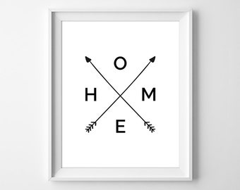 Arrows Wall Art Print, Arrow Home Art, Printable Arrow Art, Minimal Typography Printable, Gallery Art, Instant Download