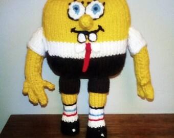 Hand Knitted Toy SpongeBob Squarepants