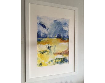 Abstract Landscape on paper