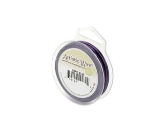 Artistic Wire 24 Gauge Dark Blue Purple 41357 Round Wire, Jewelry Wire, Craft Wire, Copper Wire, Wire Wrapping, 24ga Soft Temper Wire
