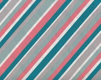 Mod Red Stripe Fabric