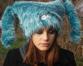 Turquoise Hat with Polar Fleece Lining