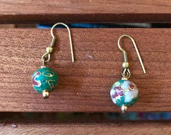 Indian vintage flower earrings