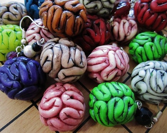 Gallitrap Zombie brains earrings