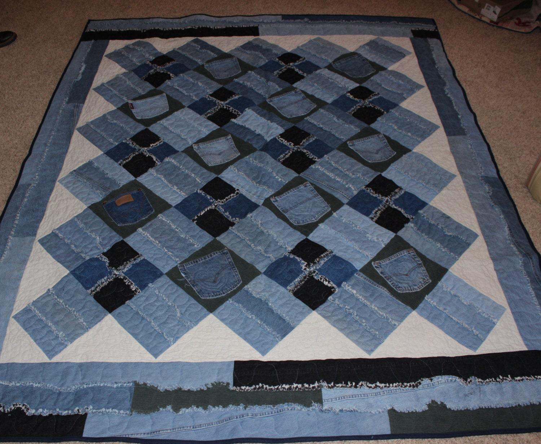 Memory Quilt Custom Quilts Jean Quilt Handmade Quilts