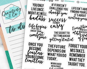 Inspirational Quote Planner Stickers for a Variety of Planners, Motivational Quote Stickers, Inspirational Quotes - QS07
