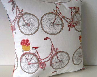 SALE! Bicycle Road Trip Pillow / Cushion Cover