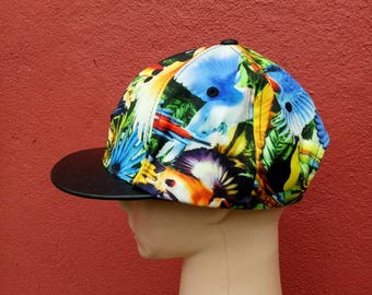 Rare vintage playboy full print hat cap, big logo multicolor hip hop style hipster