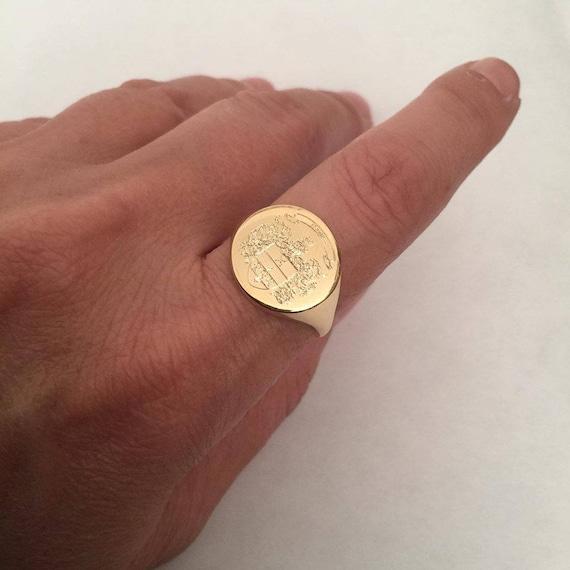 Top Stemma della famiglia Crest anello Crest incidere anello UO57