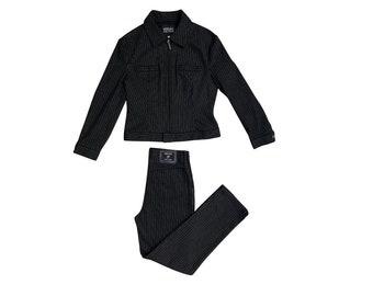 VERSACE JEANS COUTURE vintage striped suit