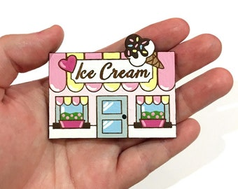 Ice Cream Parlour Brooch