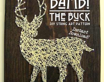 "String Art Pattern - Bambi The Buck - 10"" x 8"""