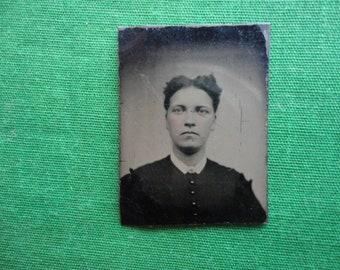 Tiny Tintype of a Women