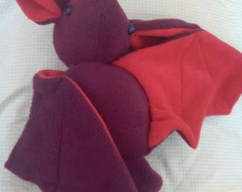 red bat plush