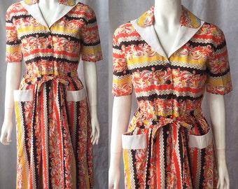 Deadstock 1940s shirtwaist dress