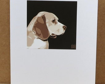 Beagle Greeting Card Art Print