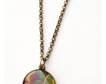 Paisley resin necklace