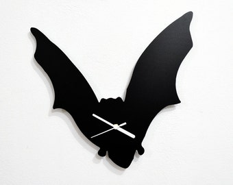 Halloween Bat Silhouette - Wall Clock