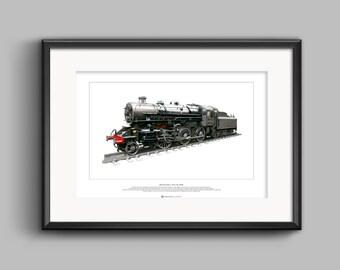 LMS Ivatt Class 4 2-6-0 No. 43106 - ART POSTER A2 size