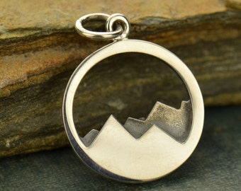 Sterling Silver Mountain Range Charm