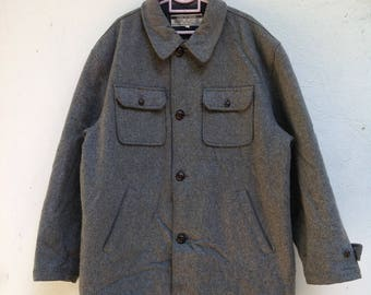 Vintage 90s Style Grunge Style Long Jacket/Winter/Wool