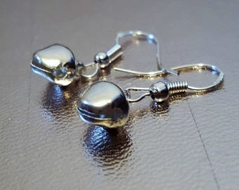 Jingle Bells Earrings, Silver Earrings,  Earrings, Novelty Earrings, , ,  Gift for Her