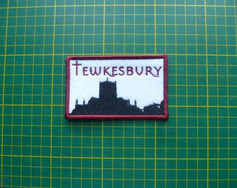Tewkesbury Patch Tewkesbury Abbey Patches Embroidered Sew on Patch Fabric Badge Fabric