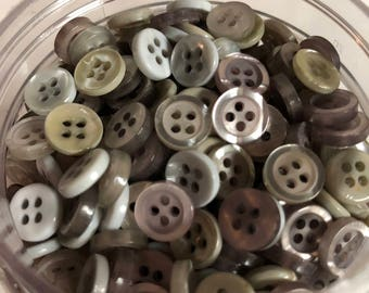 Large Lot of Silver/Grey Plastic Buttons