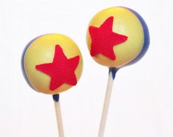 Pixar Luxo Ball Cake Pops