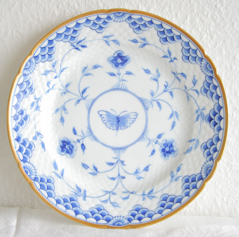 ?zoom  sc 1 st  Etsy & 2 x Bing and Grondahl Blue DICKENS / KIPLING Dinner Plates