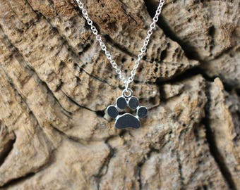 dog paw / cat paw / necklace / chain with pendant / necklace / cats / dogs / silver