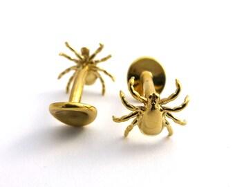 Tick Cufflinks- Science Jewelry - Arthropod Cufflinks - Men's Jewelry - Arachnid Cufflinks - Parasite Jewelry - Gift for Biologist