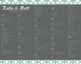 Wedding Seating Chart Printable, Custom Seating Chart, Wedding Seating Poster, Seating Board, Wedding Reception, Reception Seating Template