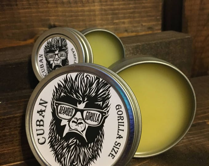 Cuban Gorilla Size All Natural Moisturizer Beard Balm, Man Gift,Bearded Man Gift, Father's Day Gift, Mens Beard Products