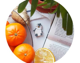 baby penguin brooch