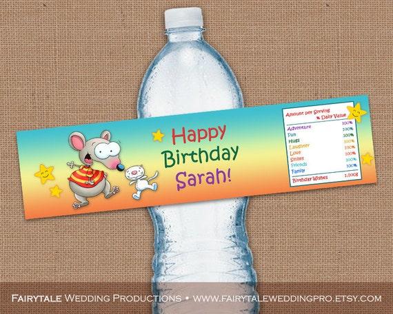 Personalizada Toopy y Binoo feliz cumpleaños botella de agua ...