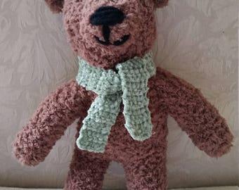 Custom Crocheted Fuzzy Teddy Bear