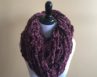Chunky Arm Knitted Infinity Scarf