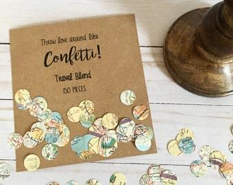 Travel Confetti | Map Confetti | Party Confetti | Paper Confetti | Travel Theme Confetti | Destination Wedding Confetti | Map Decorations