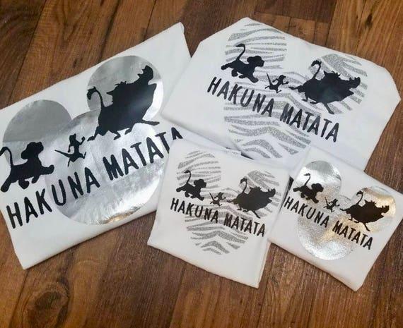 Hakuna Matata Animal Kingdom Themed Disney Zebra Print