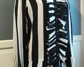 Pirate Prince Striped shirt / ouji shirt / gothic lolita shirt
