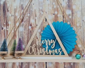 Christmas Tree Triangle. Christmas Decoration. Laser cut Christmas Tree
