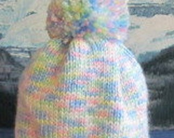 KBC 002 Hand knit baby cap 0 to 3 months