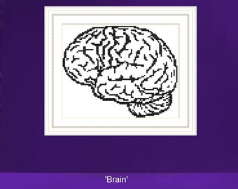 Counted Cross Stitch Kit - Brain