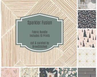 NEW!! - Woodland Fat Quarter Bundle - Fabric Bundle - Fabric by the Yard - Modern Quilt Fabric - Art Gallery Fabric - Sparkler Fusion